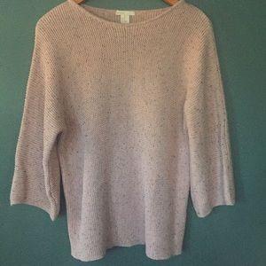VGUC H&M light pink sweater with black fleck, XS